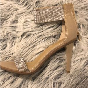 Kenneth Cole diamond studded ankle strap heels